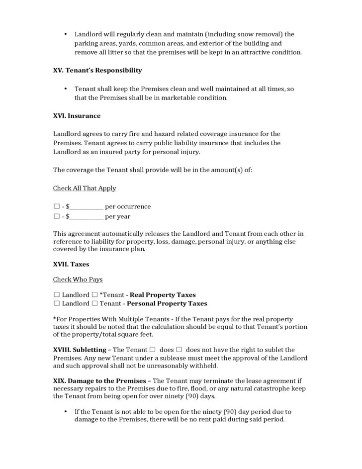 Wisconsin Commercial Lease Agreement Free Download