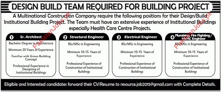 Senior Architect, Structural Engineer, Electrical Engineer & HVAC ...