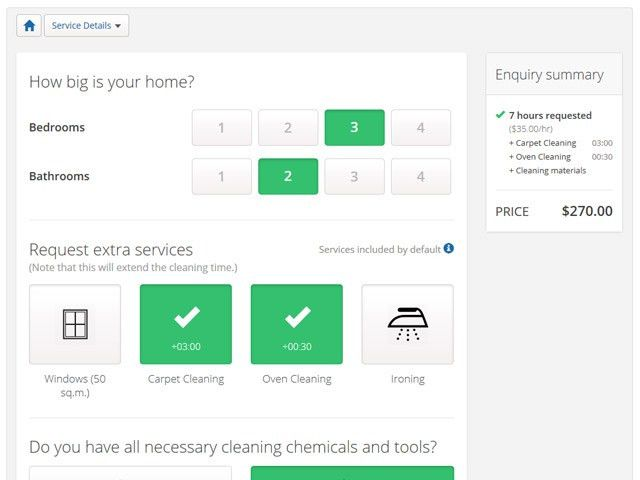 GeekyCorner   Cleaning Business Software by PHPJabbers   Booking ...