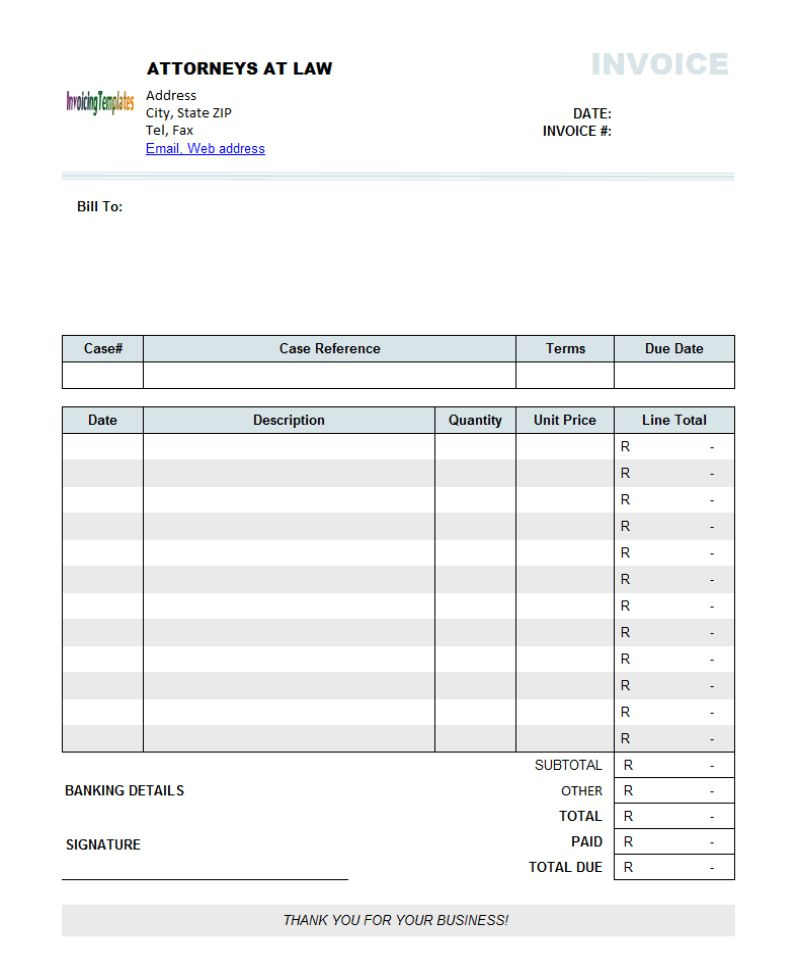 Invoice Template Excel South Africa | invoice example