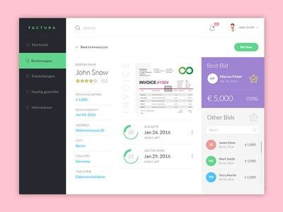 Marketplace Dashboard for selling invoices by Muhammad Mubashir ...