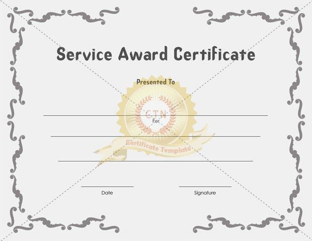 Sample Certificate Of Service Template. Certificate Of ...