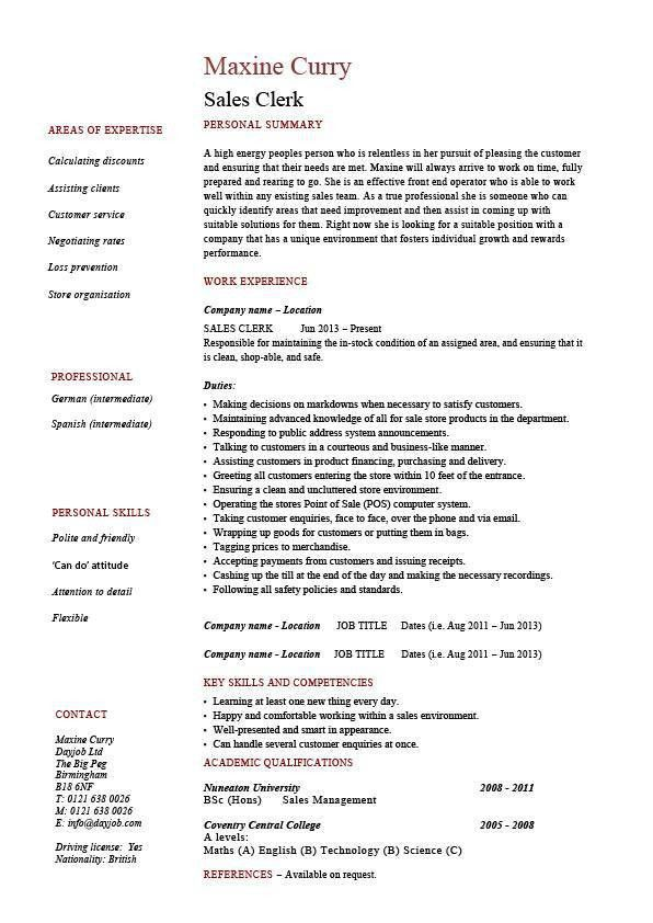 store clerk job description resume entry level cashier resume