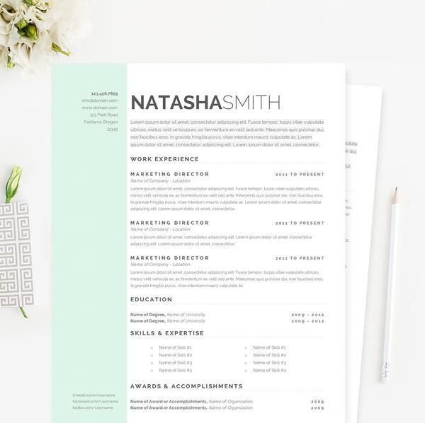 Pastel Dreams Marketing Resume, Cover Letter & References Template ...