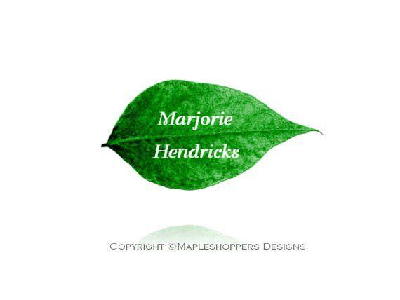 Printable Leaf Place Card on apples pears Editable Name Tag