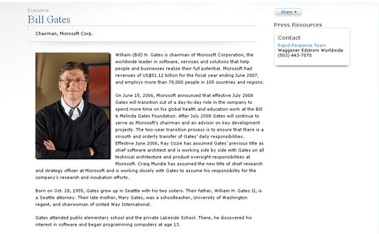 Bio Page Assignment | Web Authoring: Fall 2011