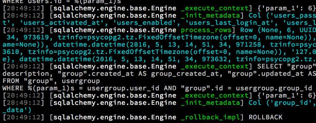 Python standard logging pattern