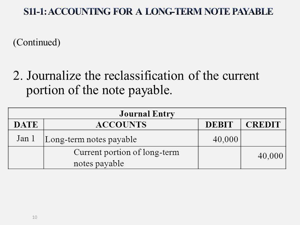Note Payables - formats.csat.co