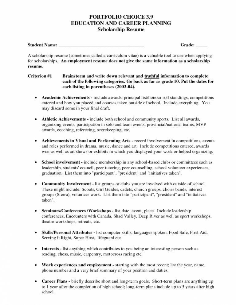 how to write a scholarship resume png how to write a college