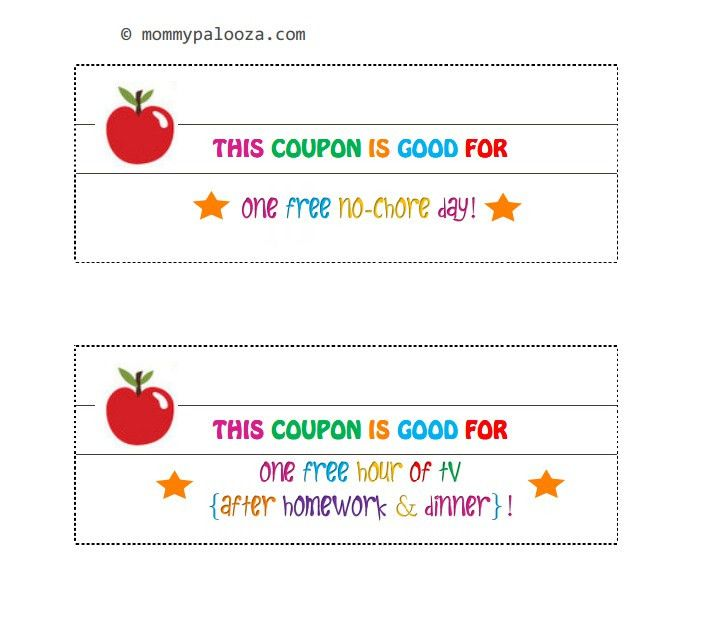Free Printable Back to School Coupon Book for Kids - mommypalooza™