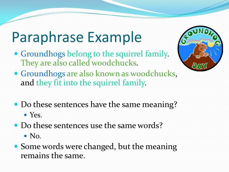 Summarizing and Paraphrasing - ppt video online download