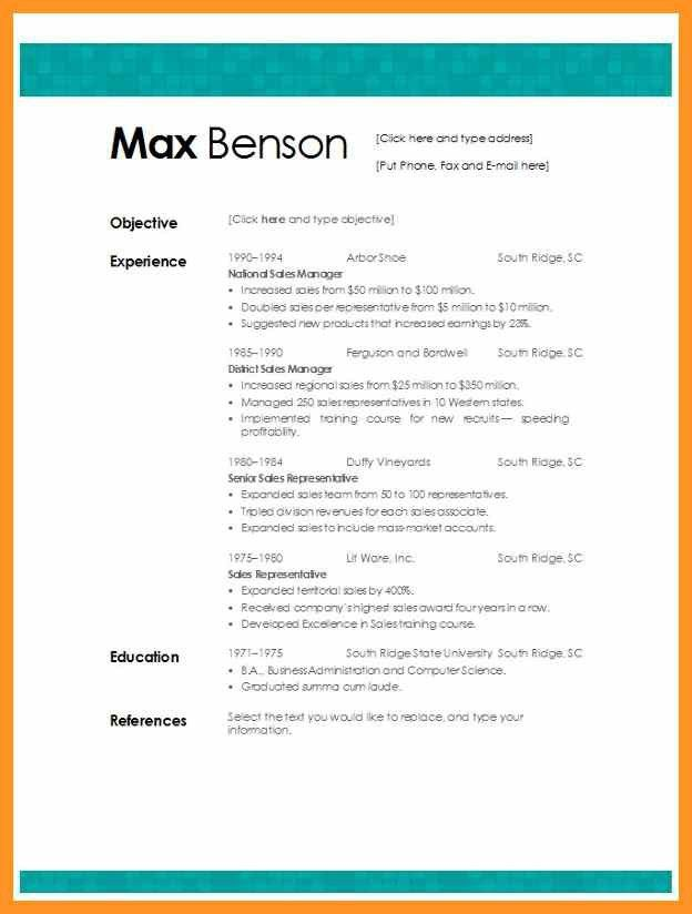 best resume template microsoft word | bio letter format