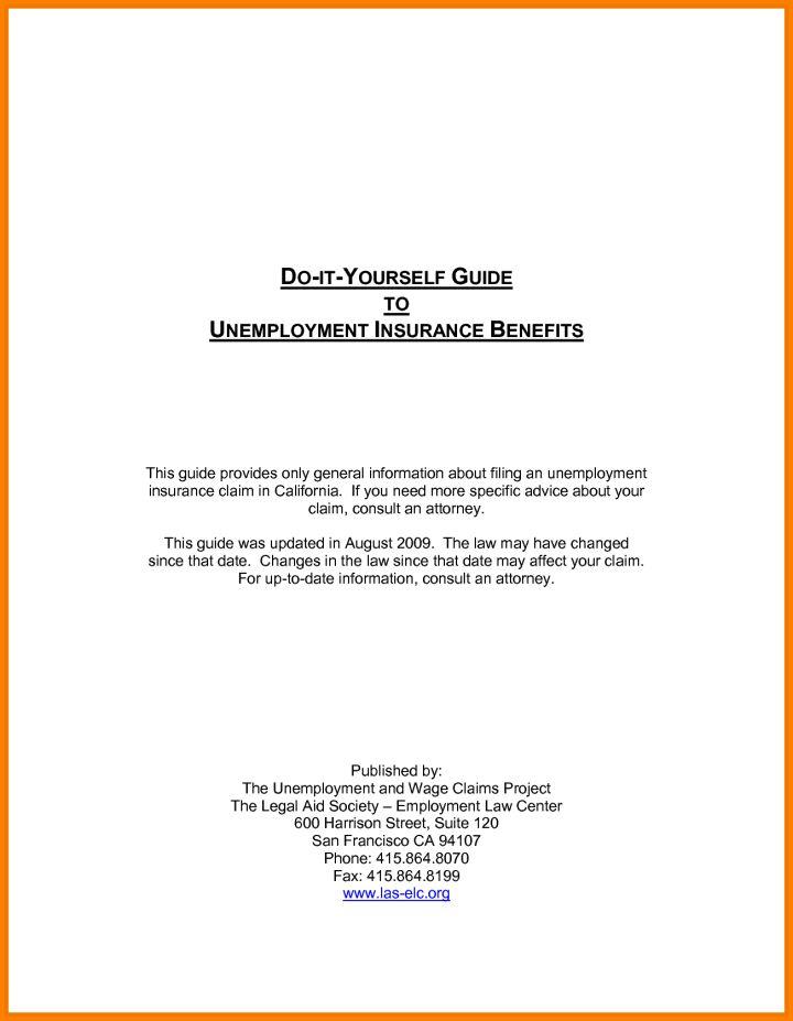 Edd Unemployment Appeal Letter Sample | Docoments Ojazlink