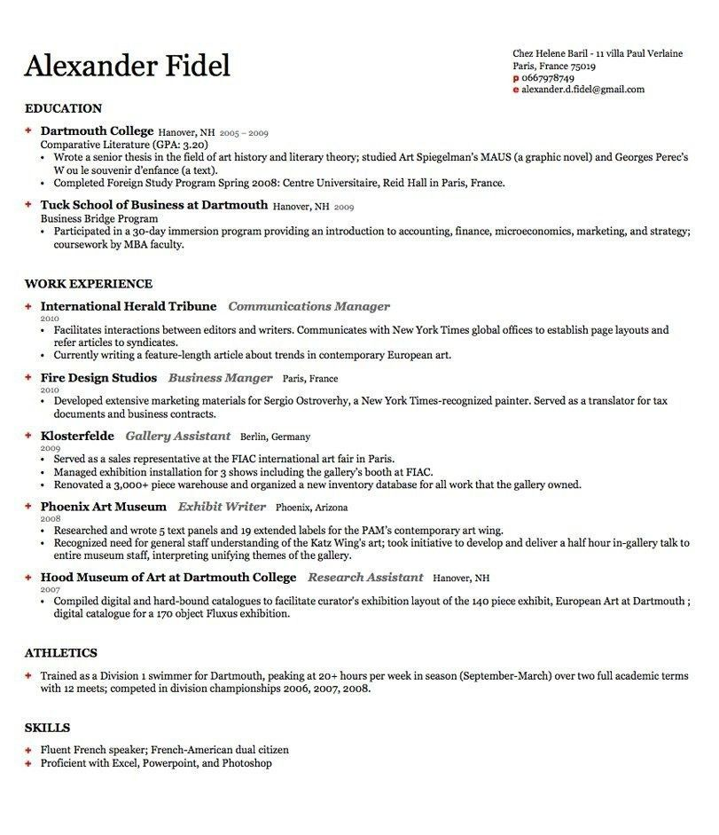 harvard business school resume format best resume collection - Business School Resume Template