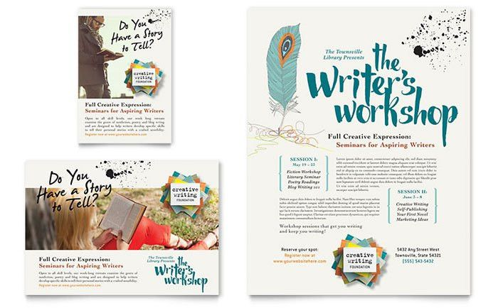Creative Poster & Flyer Designs for a Writing Workshop ...