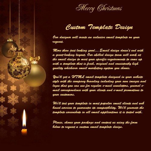 Nice and Happy Email Newsletter Templates for Christmas | Moosend ...