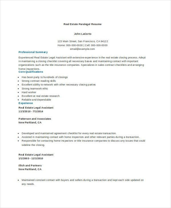 sample resume paralegal resume cv cover letter. paralegal resume ...