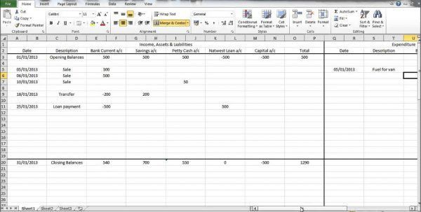 Simple Bookkeeping Examples Bookkeeping Excel Spreadsheet ...