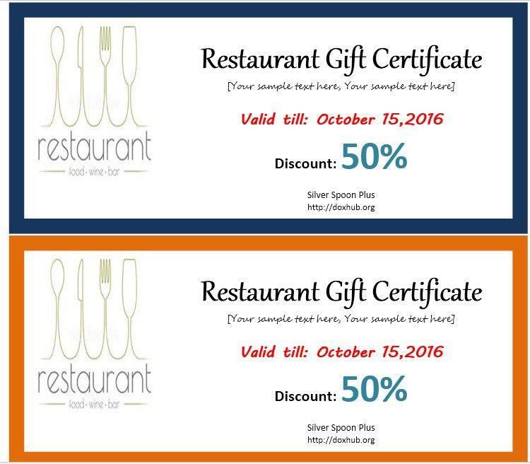 13 Free Sample Restaurant Voucher Templates – Printable Samples