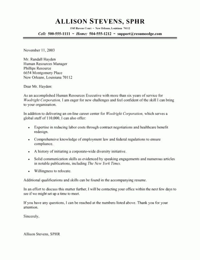 Hr Support Cover Letter