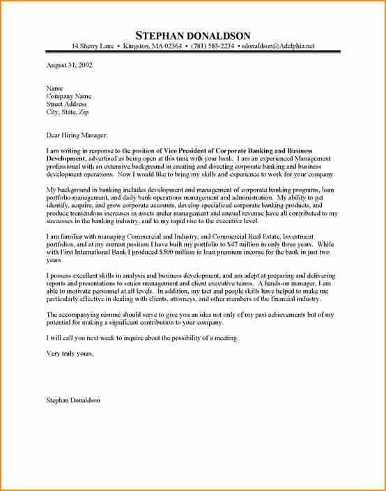 Head Teller Cover Letter