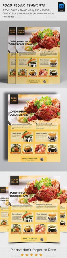 Food Flyer | Restaurants, Flyer template and Food