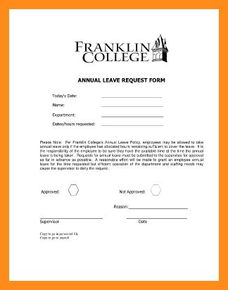 5+ annual leave application | resume setups
