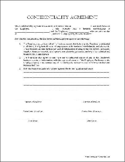 Free Nda Forms Confidentiality Agreement Non Disclosure Agreement – Free Nda Forms