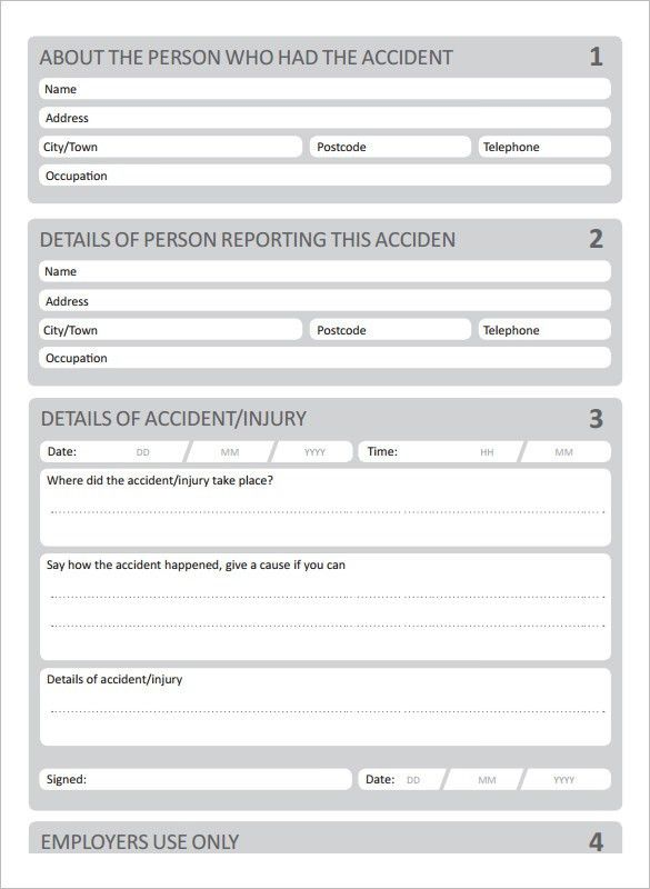 Accident Report Template - 10 Free Word, PDF documents Download ...