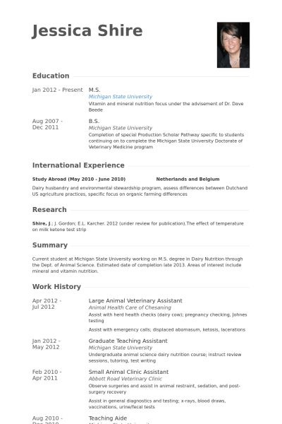 veterinary assistant resume veterinary assistant resume example