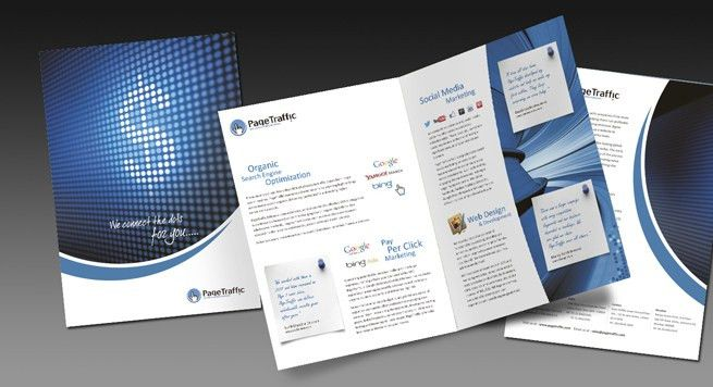 One Fold Brochure Design and Printing for SEO and Digital ...