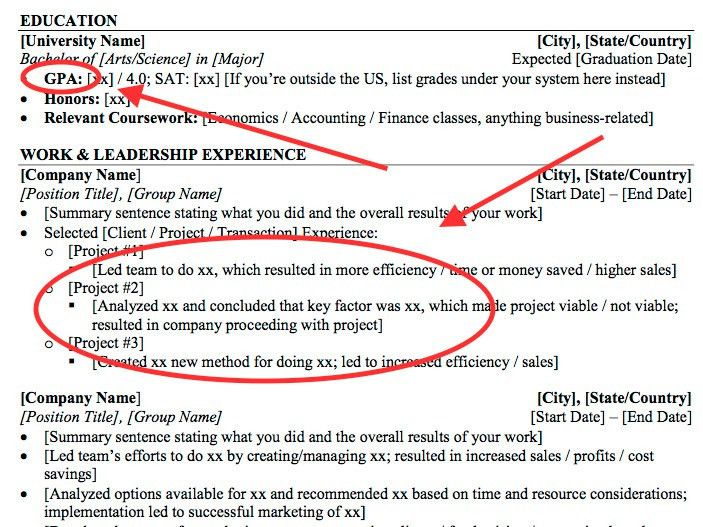 Résumé tips for Wall Street internships - Business Insider