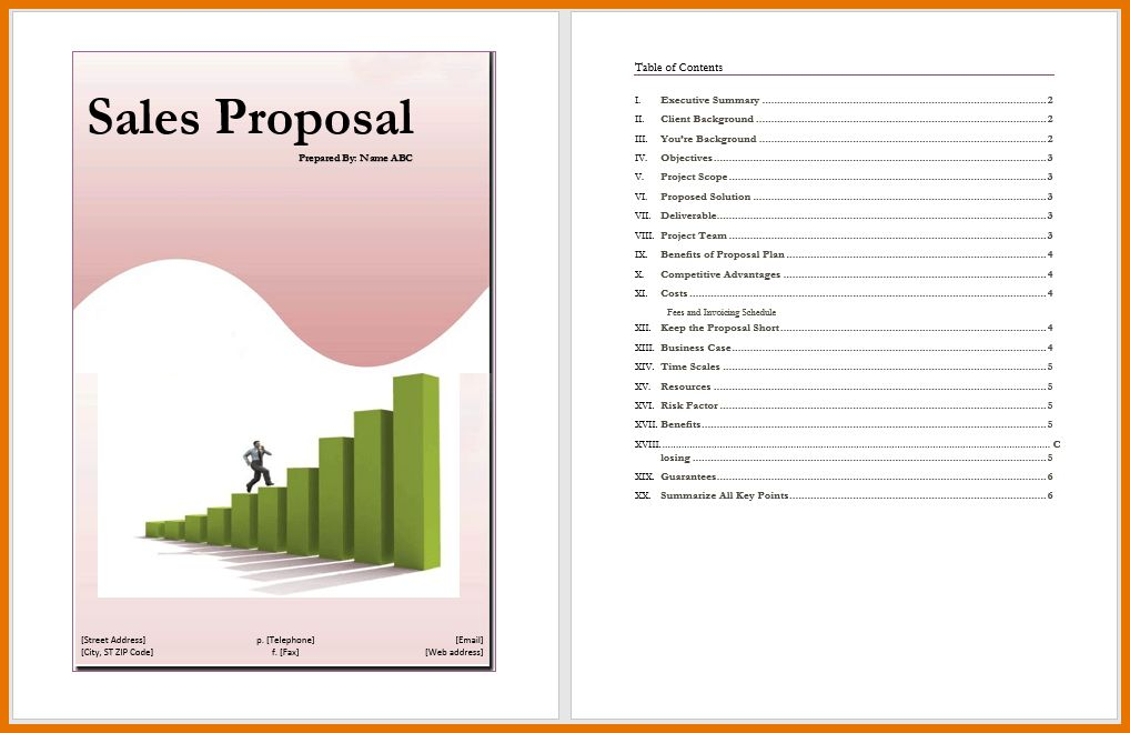 8+ sales proposal template | Itinerary Template Sample