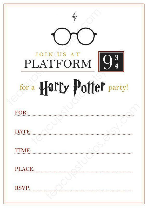 Best 25+ Harry potter invitations ideas on Pinterest | Harry ...