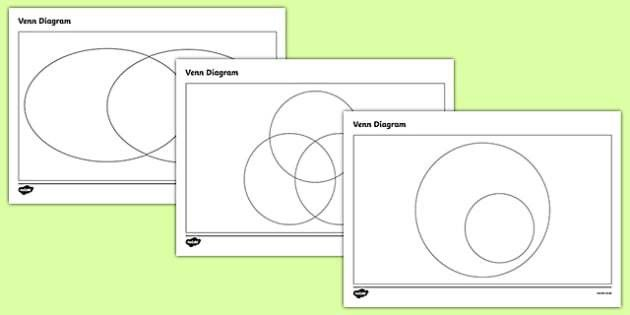 Venn Diagram Templates Pack - venn diagrams, venn, venn diagram