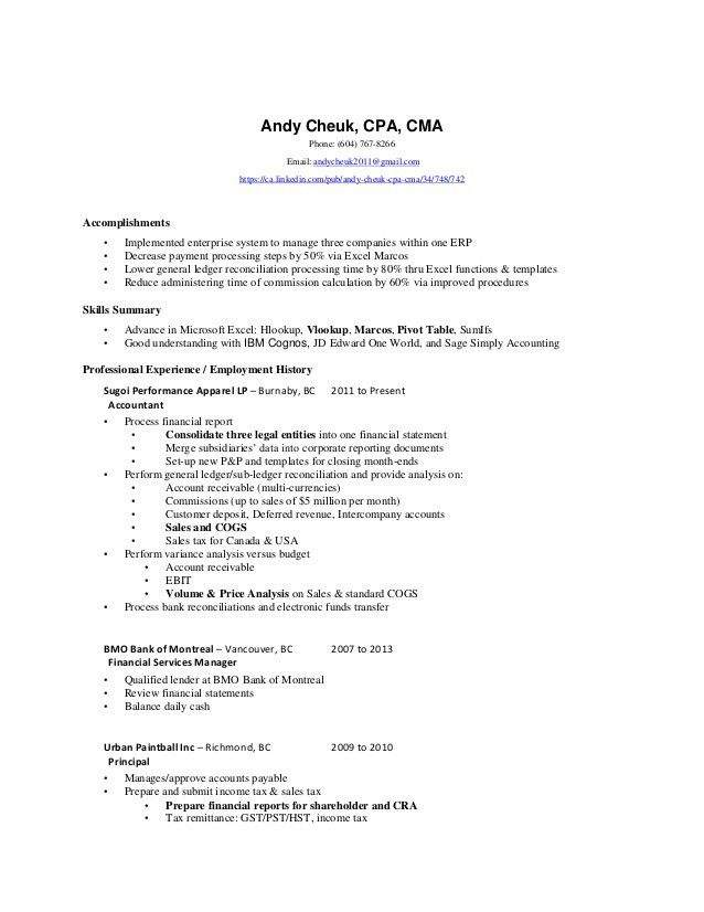 accounting auditor resume accounting jobs resume cpa sample exampl ...