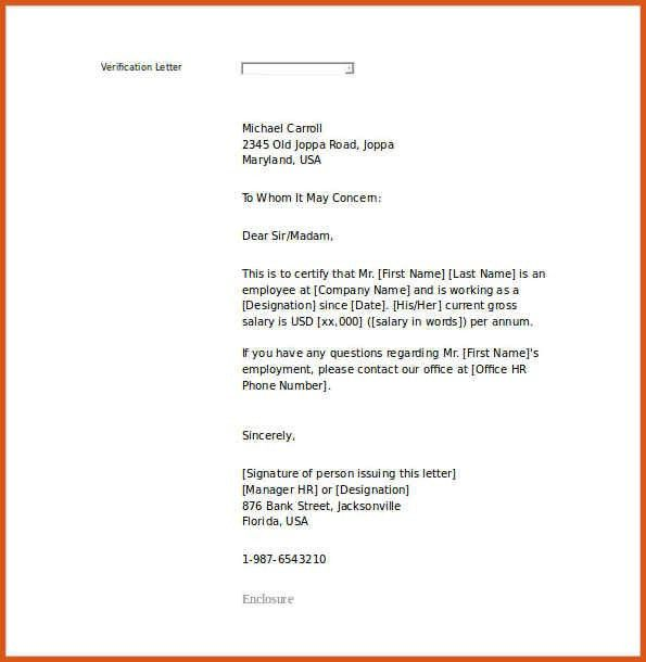 employment letter sample | general resumes