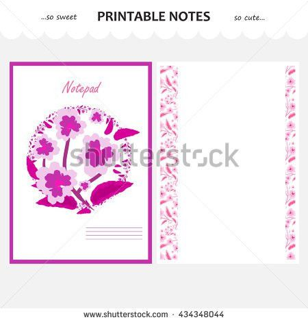Vector Design Set Printable Paper Beautiful Stock Vector 426697357 ...