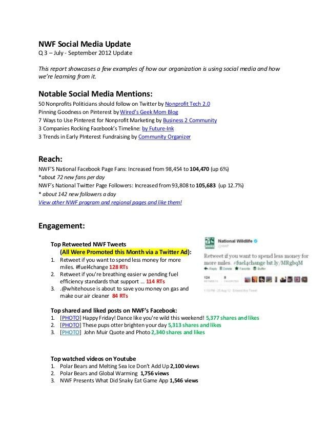 Quarterly Social Media Report