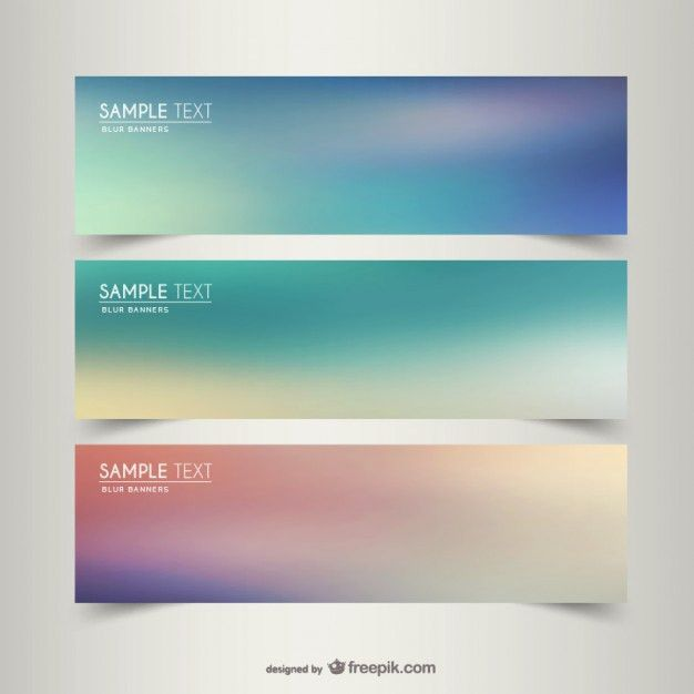 Blurry banner templates Vector | Free Download