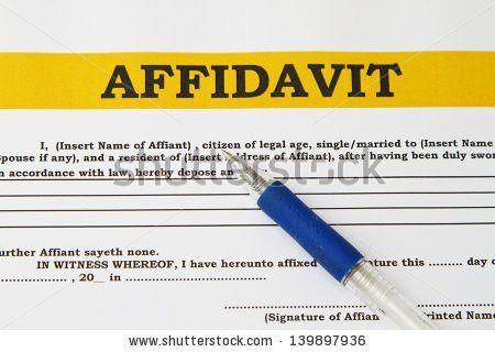 Affidavit Stock Images, Royalty-Free Images & Vectors | Shutterstock