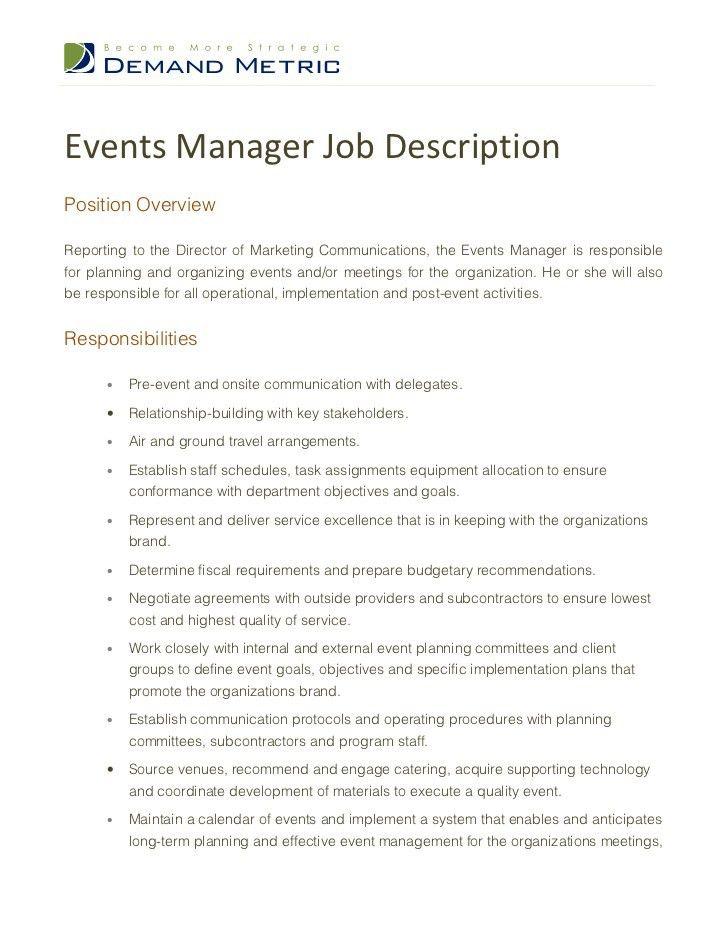 Communications Director Job Description. Communications Director ...
