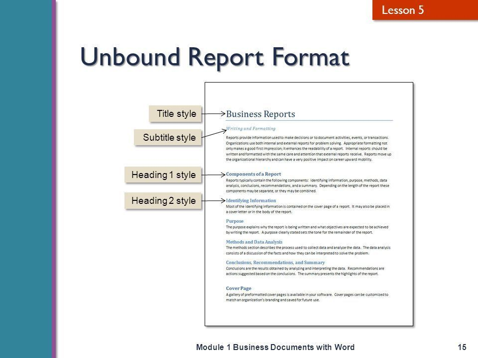 Business Documents with Word - ppt video online download