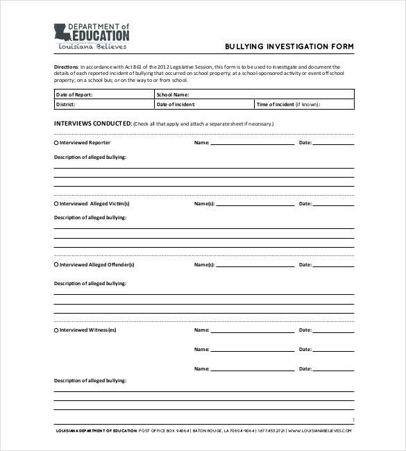 Investigation Report Templates - 12+ Free Sample, Example, Format ...