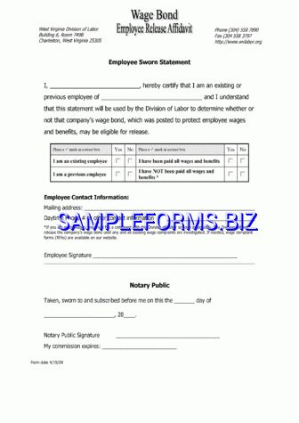 West Virginia Affidavit Form templates & samples