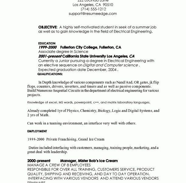 College Internship Resume - CV Resume Ideas