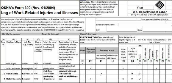 Brief Tutorial on Completing the OSHA Recordkeeping Forms - Text ...