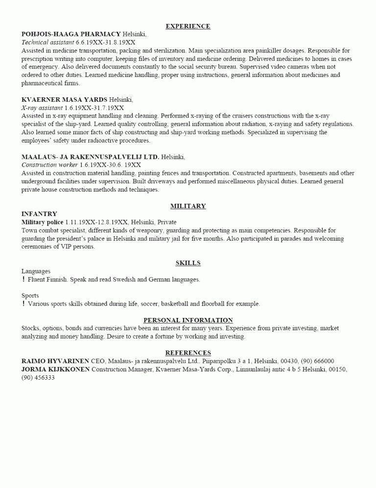 Winsome Design Resume Writing Examples 7 Free Sample Resume ...