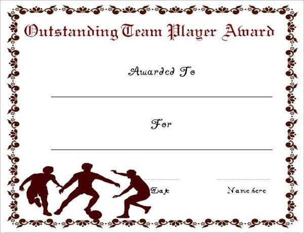 Editable Soccer Award Certificate Templates || Free & Premium ...