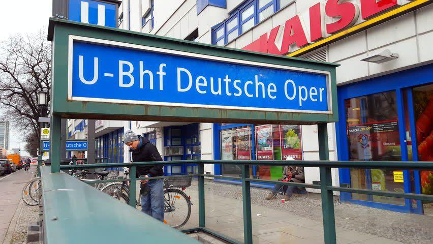 Deutsche Oper Subway U-Bahn Station, Berlin, Germany Stock Footage ...